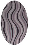 rug #553333   oval purple retro rug