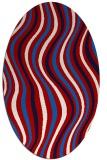 rug #553338 | oval retro rug
