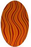 rug #553341 | oval red stripes rug