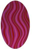 rug #553349 | oval pink popular rug