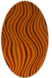 rug #553353 | oval red-orange abstract rug