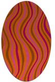 rug #553361 | oval red-orange rug