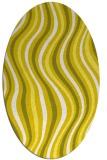 rug #553373 | oval white stripes rug