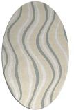 rug #553381 | oval beige stripes rug