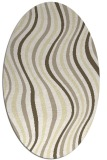 rug #553389 | oval yellow retro rug