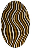 rug #553393 | oval brown retro rug