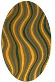 rug #553401 | oval yellow rug