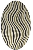 rug #553405 | oval black retro rug