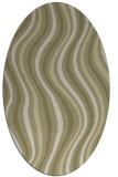 rug #553421 | oval light-green stripes rug