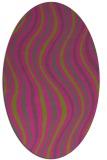 rug #553425 | oval pink retro rug