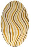 rug #553433   oval light-orange stripes rug