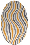 rug #553445   oval white abstract rug
