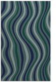 rug #553481 |  blue-green stripes rug