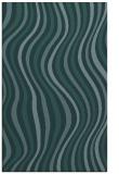 rug #553521 |  blue-green retro rug