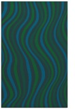 rug #553525 |  blue-green retro rug