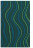 rug #553529 |  blue-green retro rug