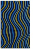 rug #553617 |  blue stripes rug