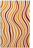 rug #553641 |  orange abstract rug