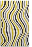 rug #553749 |  yellow retro rug