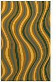 rug #553753 |  yellow retro rug