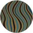 rug #553821   round brown retro rug