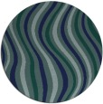 rug #553833 | round blue-green abstract rug