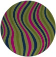 rug #553837 | round green abstract rug