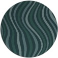 rug #553873 | round blue-green abstract rug