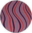 rug #553893 | round pink retro rug
