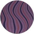 rug #553897   round purple abstract rug