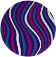 rug #553905   round blue-violet retro rug