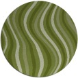 rug #553925 | round green abstract rug