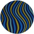 rug #553969   round blue abstract rug