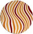 rug #553993 | round orange abstract rug