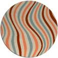 rug #553997 | round orange retro rug