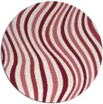 rug #554013 | round pink abstract rug