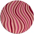 rug #554017 | round pink abstract rug