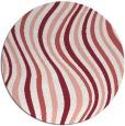 rug #554021   round white retro rug