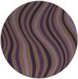 rug #554033 | round mid-brown stripes rug