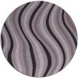 rug #554037   round purple abstract rug