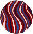 rug #554042 | round retro rug