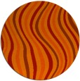 rug #554045 | round red abstract rug