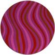rug #554053 | round pink retro rug