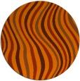 rug #554057 | round red-orange retro rug