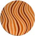 rug #554061   round red-orange stripes rug