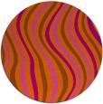 rug #554065 | round red-orange popular rug