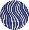 rug #554081 | round blue abstract rug