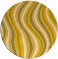 rug #554089 | round yellow abstract rug
