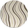 rug #554093 | round yellow retro rug