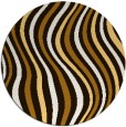 rug #554097 | round brown abstract rug
